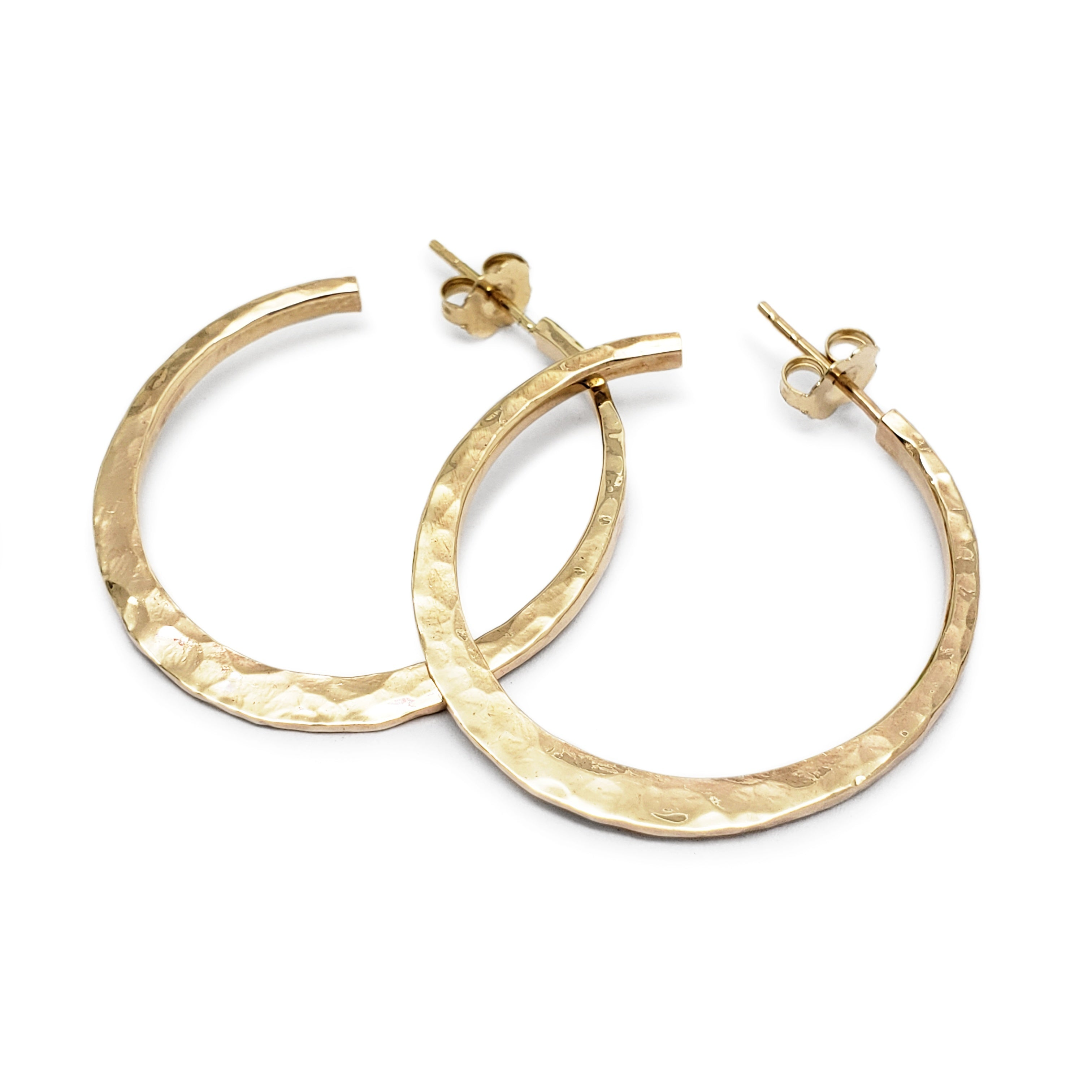 Yellow gold Hoop Earrings | Era Design Vancouver Canada