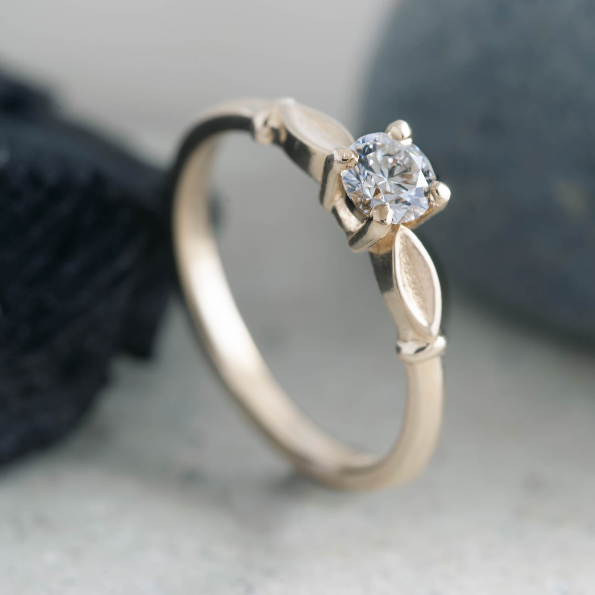 Canadian Diamond Leafy Solitaire