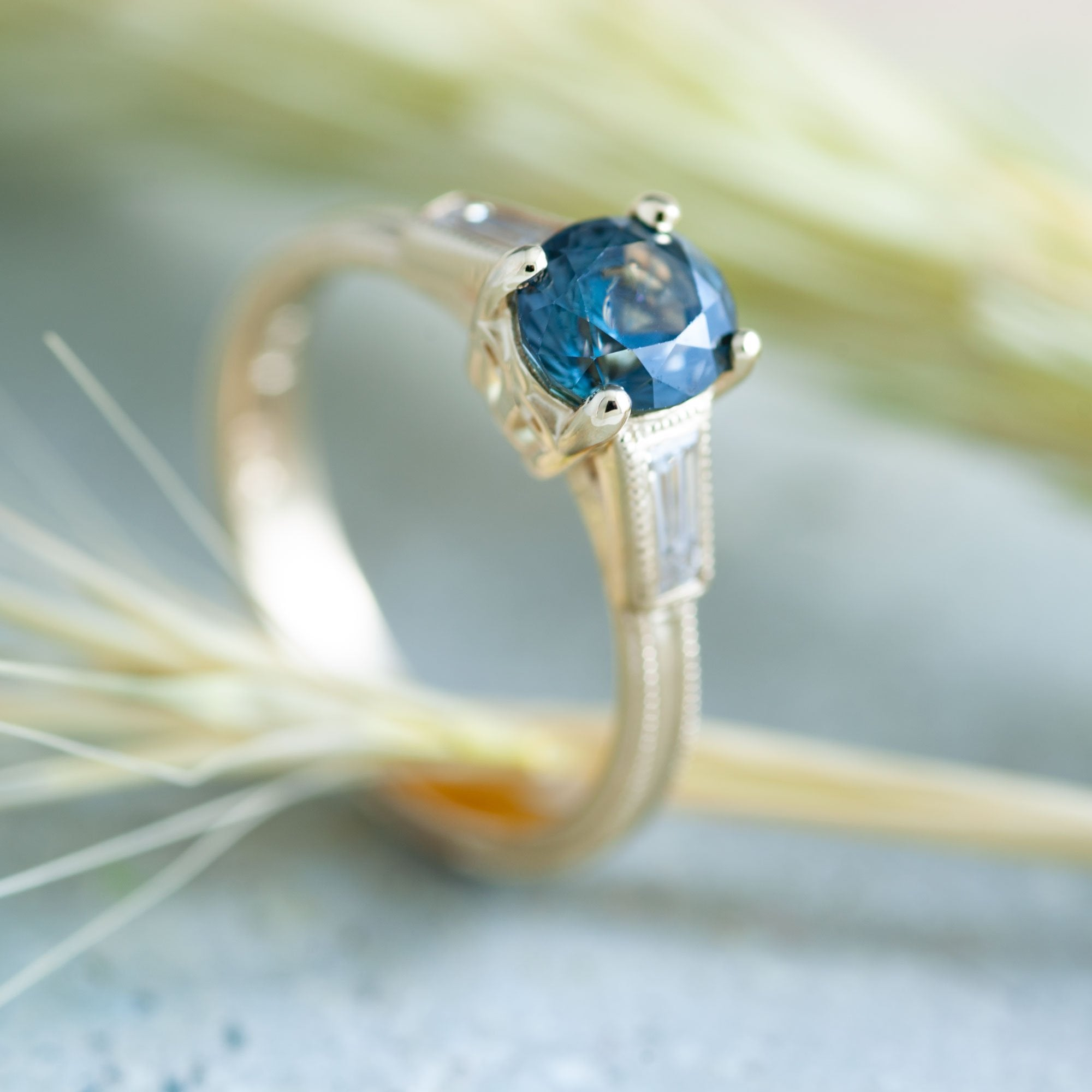 Faven Gemstone Engagement Ring - Era Design Vancouver