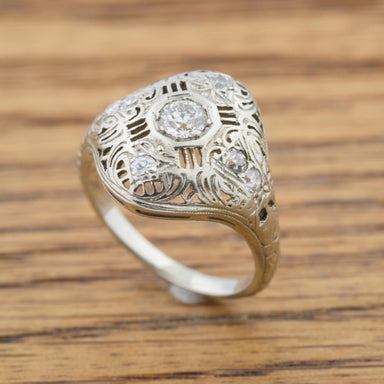 Vintage Edwardian Filigree Ring Vintage Ring - Era Design Vancouver