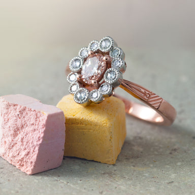 Blush Diamond Engagement Ring - Era Design Vancouver