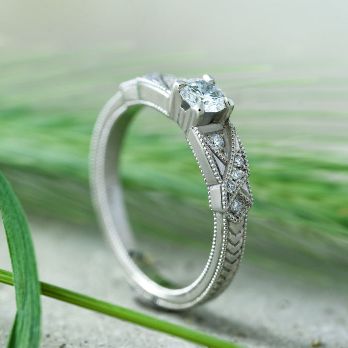 Sache Diamond and Gemstone Engagement Ring - Era Design Vancouver