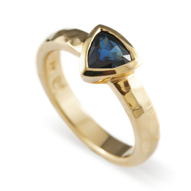 Shield Sapphire Engagement Ring - Era Design Vancouver