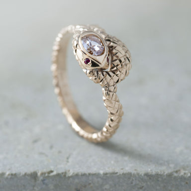 Golden Snake Diamond Engagement Ring - Era Design Vancouver