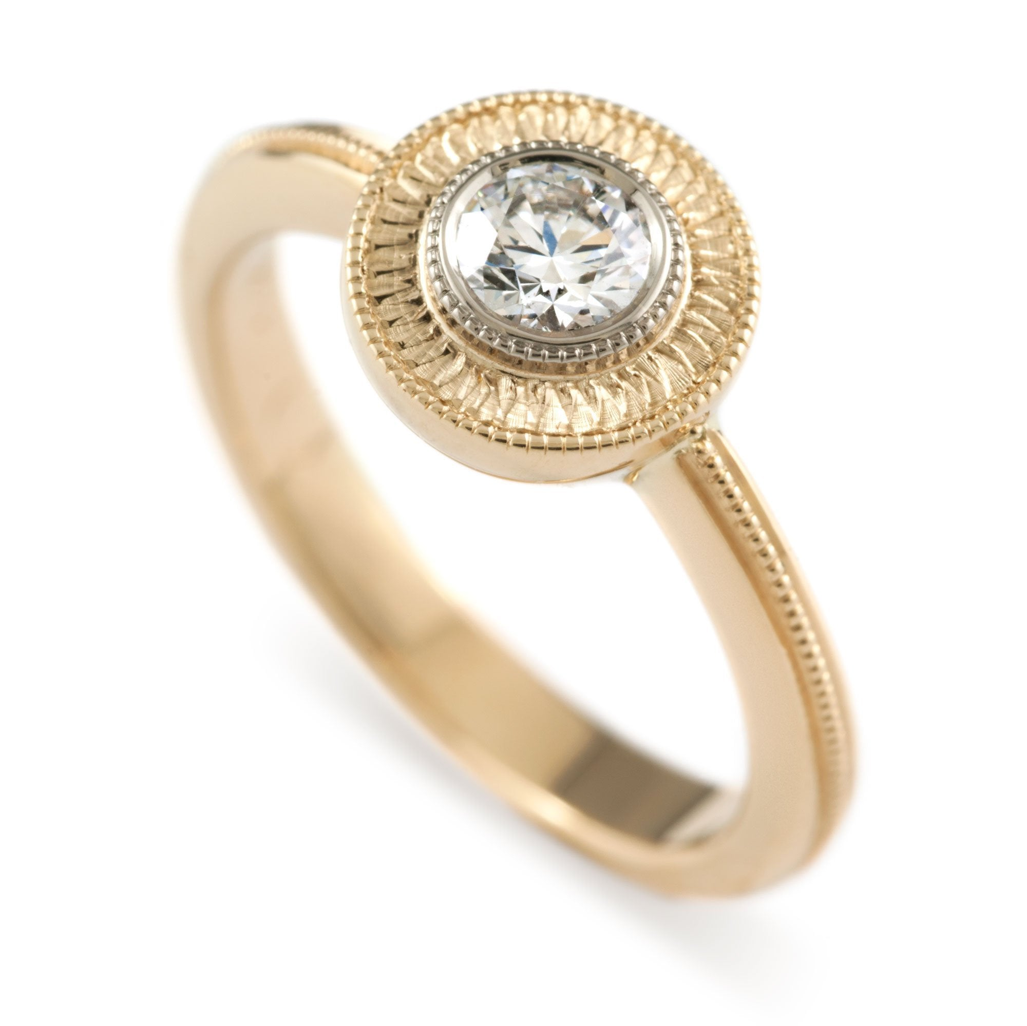Soleil Diamond Engagement Ring - Era Design Vancouver