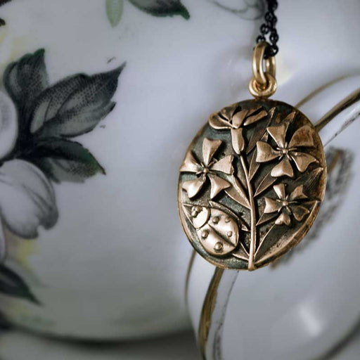 Oleander Rose Gold Pendant Rose Gold Pendant - Era Design Vancouver