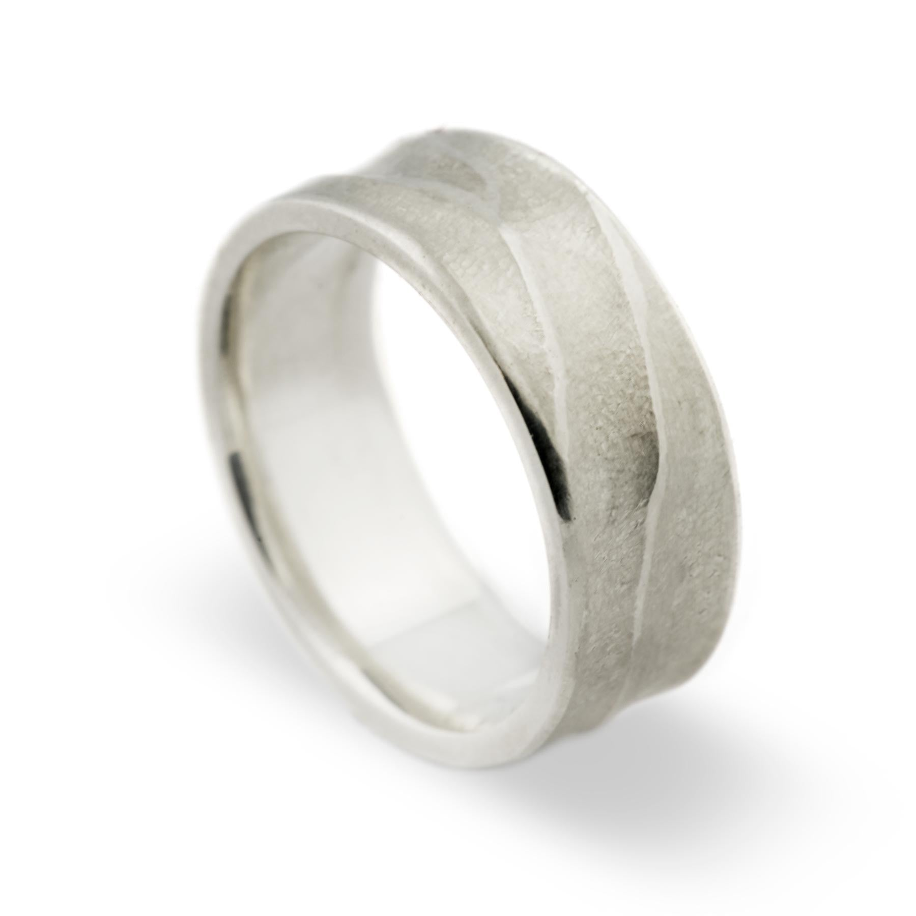 Sterling Silver Topography Wedding Band - Era Design Vancouver