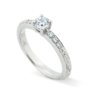 Willow Canadian Diamond Engagement Ring | Era Design Vancouver Canada