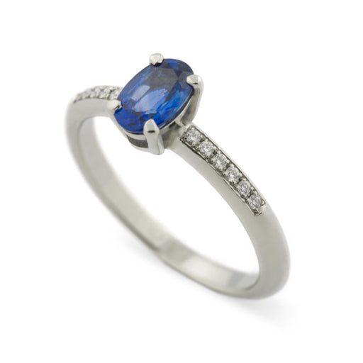 Alice Diamond and Sapphire Engagement Ring - Era Design Vancouver