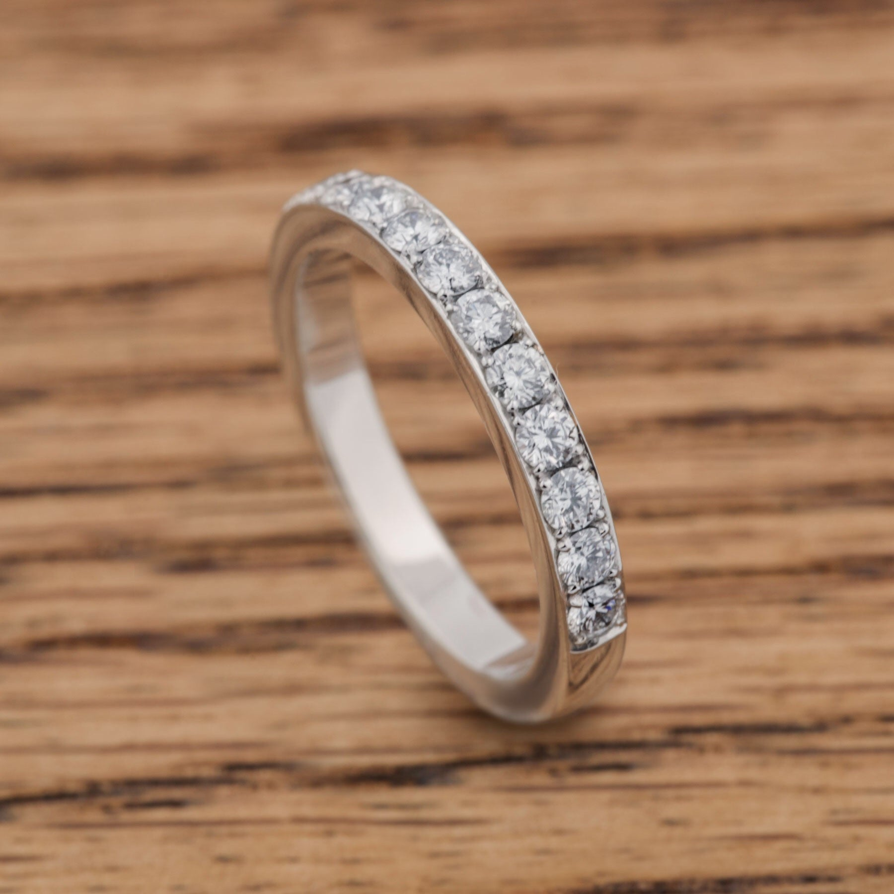 Pave band in white gold Diamond Wedding Band - Era Design Vancouver