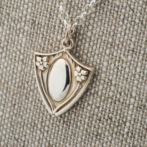 Medallion Shield Pendant Sterling Silver Pendant - Era Design Vancouver