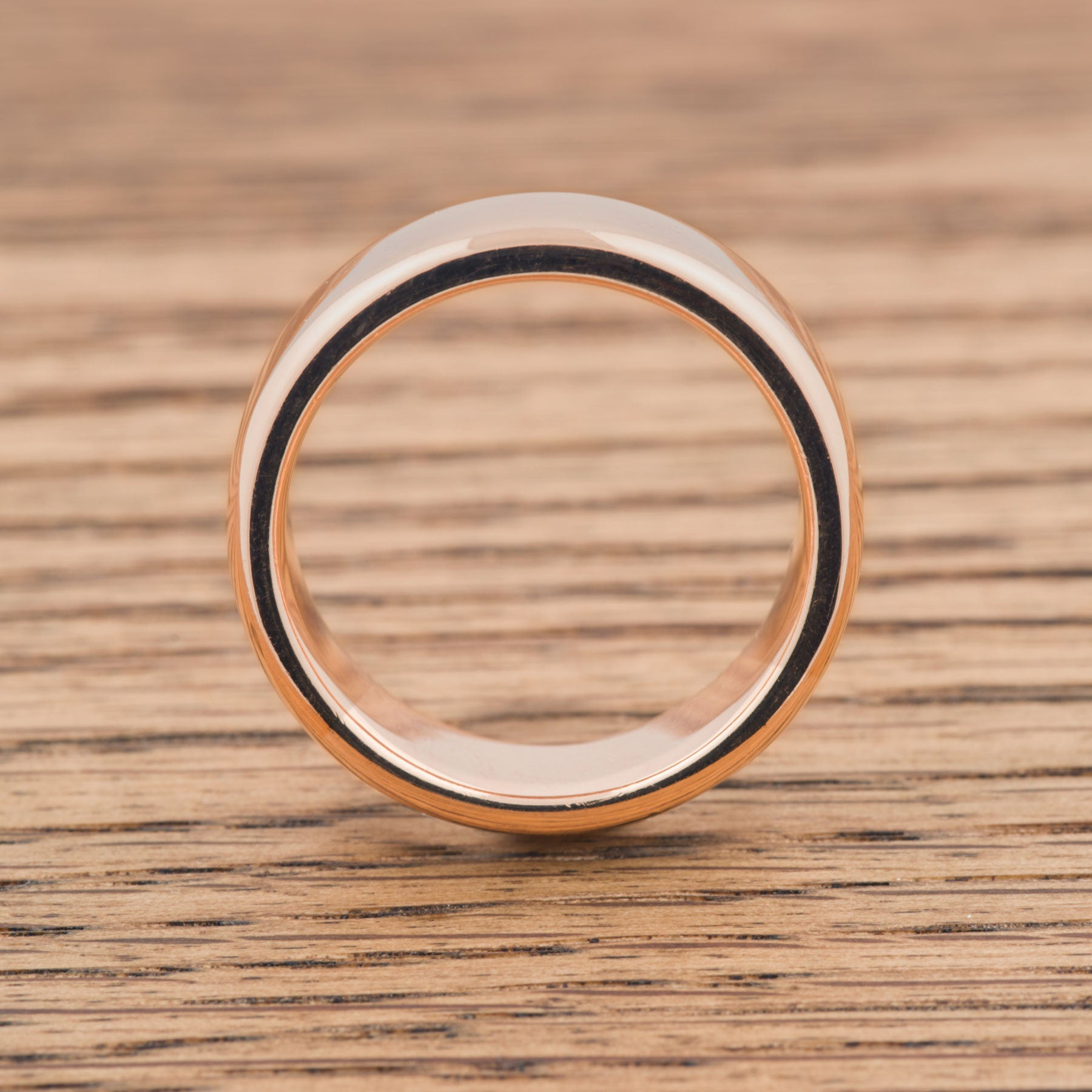 Rolled Edge High Polish Wedding Band - Era Design Vancouver
