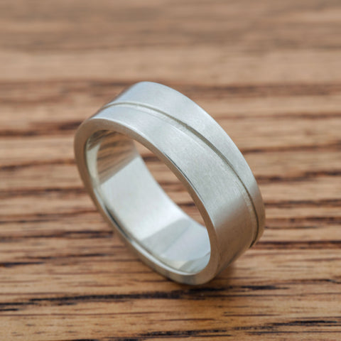 Mens Wave Band Wedding Band - Era Design Vancouver