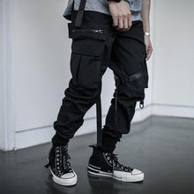 Load image into Gallery viewer, Ribbons Harem Joggers Men Cargo Pants Streetwear