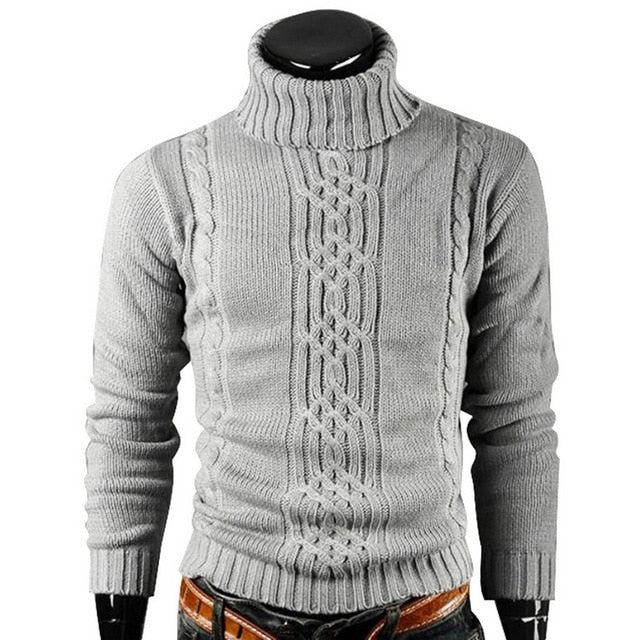 Winter Warm Turtleneck Sweater Men
