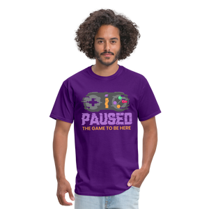 Paused - purple
