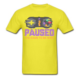 I Paused - yellow