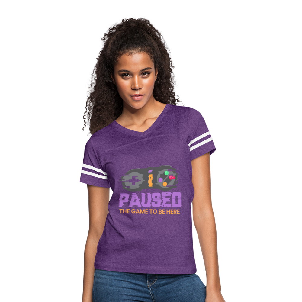 Women's Paused the Game - vintage purple/white
