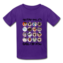 Load image into Gallery viewer, Kids YD  Eyes Youth T-Shirt - purple