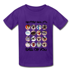 Kids YD  Eyes Youth T-Shirt - purple