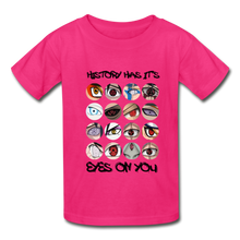 Load image into Gallery viewer, Kids YD  Eyes Youth T-Shirt - fuchsia