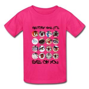 Kids YD  Eyes Youth T-Shirt - fuchsia