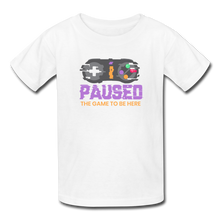 Load image into Gallery viewer, Kids' Paused the game T-Shirt - white