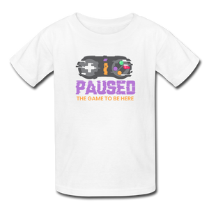 Kids' Paused the game T-Shirt - white