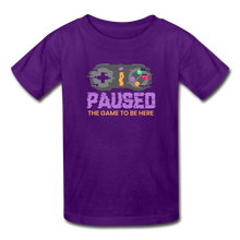 Load image into Gallery viewer, Kids' Paused the game T-Shirt - purple