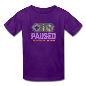 Kids' Paused the game T-Shirt - purple