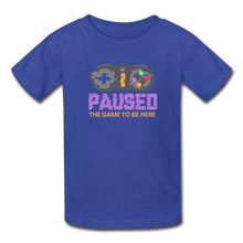 Load image into Gallery viewer, Kids' Paused the game T-Shirt - royal blue