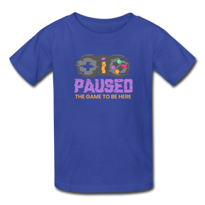 Kids' Paused the game T-Shirt - royal blue