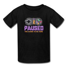 Load image into Gallery viewer, Kids' Paused the game T-Shirt - black