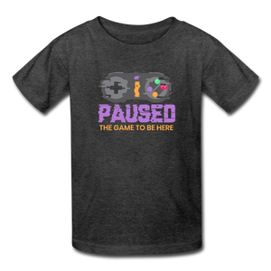 Kids' Paused the game T-Shirt - heather black