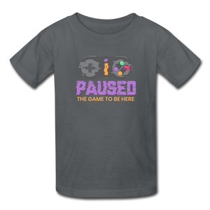 Kids' Paused the game T-Shirt - charcoal