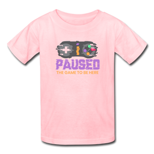 Kids' Paused the game T-Shirt - pink