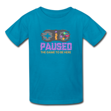 Load image into Gallery viewer, Kids' Paused the game T-Shirt - turquoise