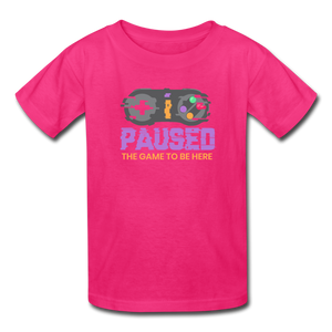Kids' Paused the game T-Shirt - fuchsia