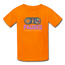 Load image into Gallery viewer, Kids' Paused the game T-Shirt - orange