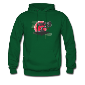 YD Tree Men's Hoodie - forest green