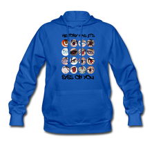 Load image into Gallery viewer, Women's Eyes' Hoodie - royal blue