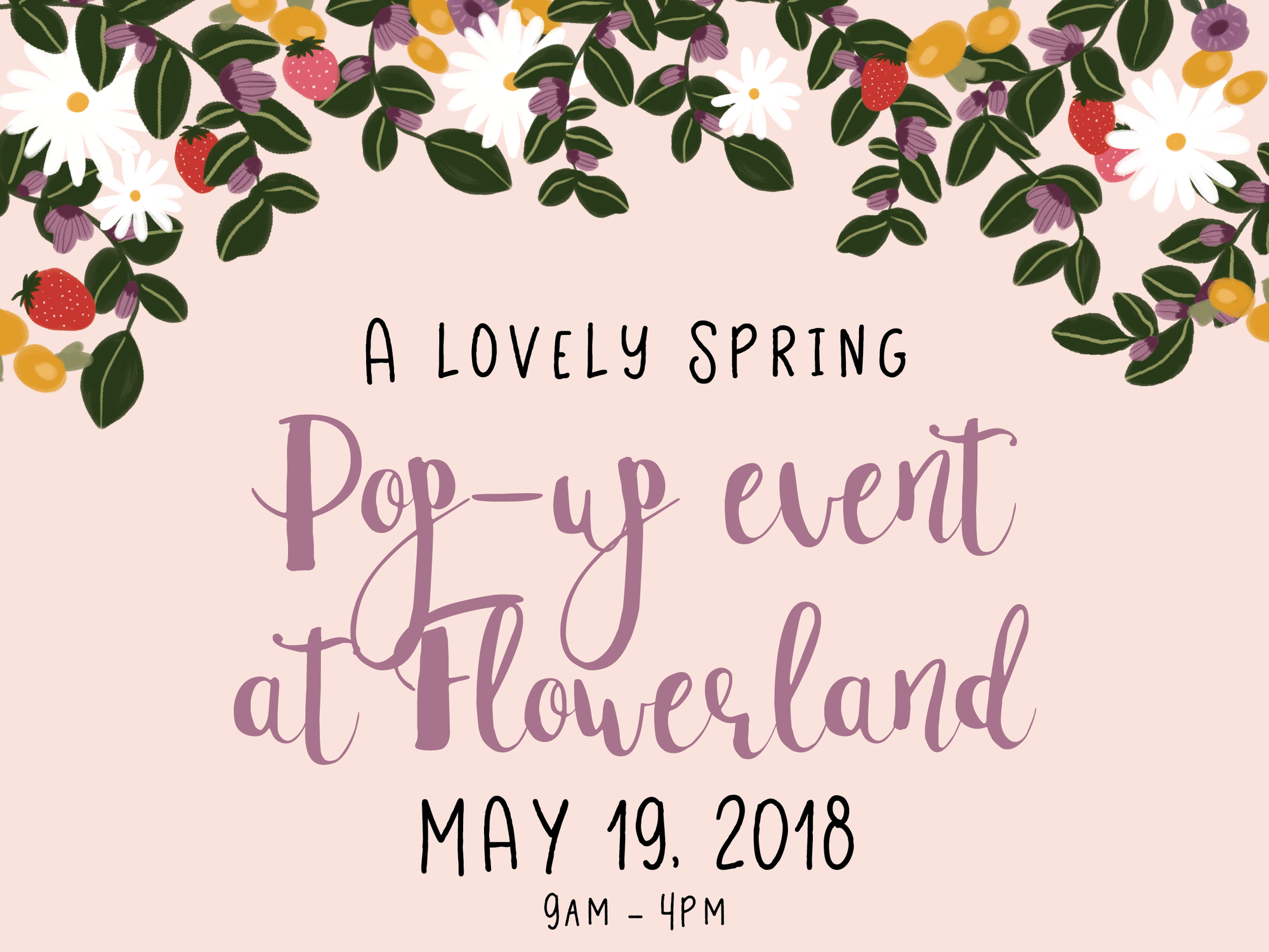 May 19: Pop-up Shop at Flowerland