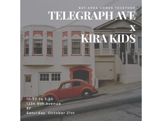 October 21: Telegraph Ave Pop Up at Kira San Francisco