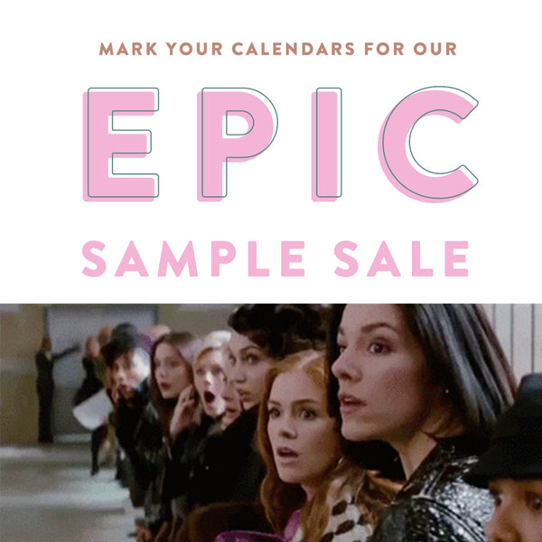Jan 26 & 27: Epic Sample Sale in SF