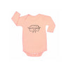 Nigiri Graphic Onesie, Long Sleeve, Blush
