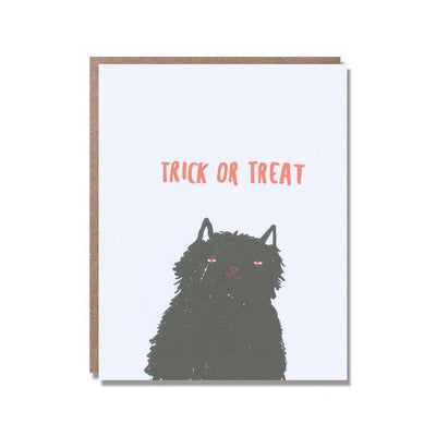 Egg Press: Halloween Cat Card