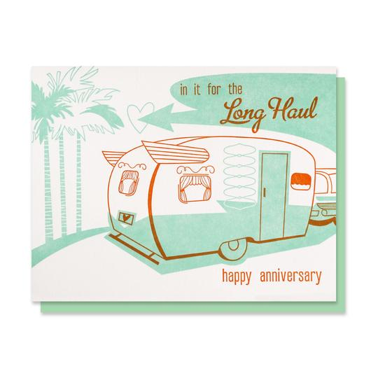 Paper Parasol Press: Long Haul Anniversary Card
