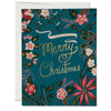 Red Cap Cards: Blue Poinsettia - Boxed Set