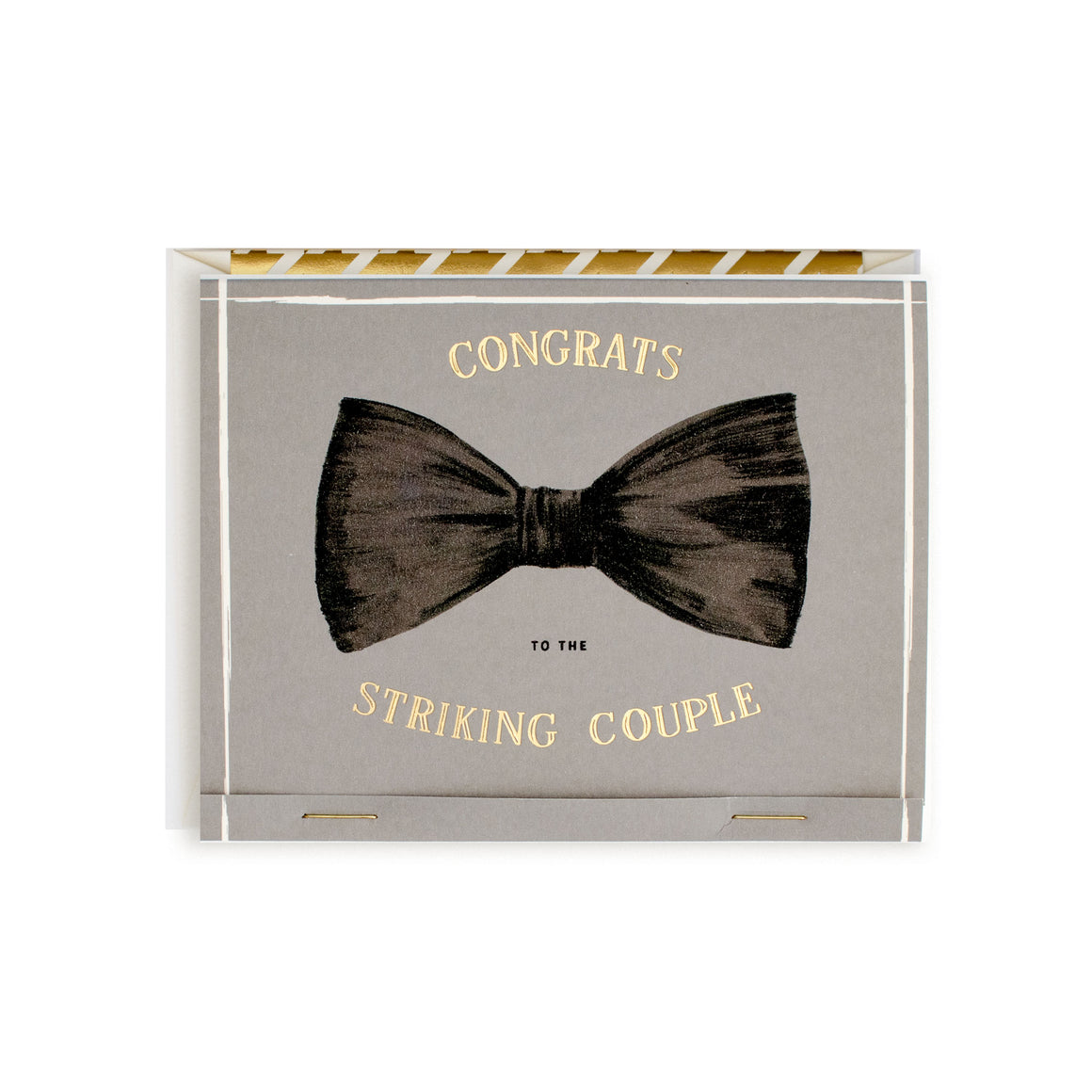 The First Snow: Striking Couple Matchbook Card