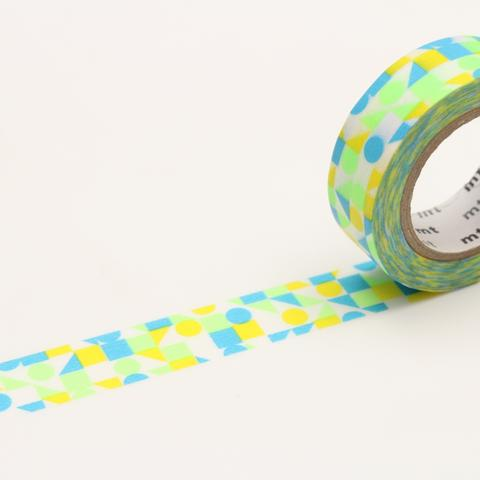 MT: Washi Tape, Circle Triangle Maru Sankaku Blue
